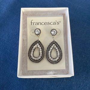 Women's crystal teardrop earrings